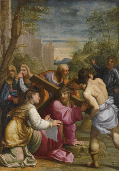 Guido Reni (1575–1642)  Christ carrying the Cross  oil on copper, 49.5 x 36.5 cm  estimate € 400,000 – € 600,000  Auction 19th April 2016