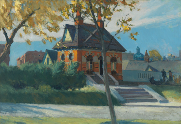 Edward Hopper (1882 1967) Small Town Station 1918 1920 Oil on canvas, 66,7x97,3 cm Whitney Museum of American Art, New York; Josephine N. Hopper Bequest © Heirs of Josephine N. Hopper, Licensed by Whitney Museum of American Art
