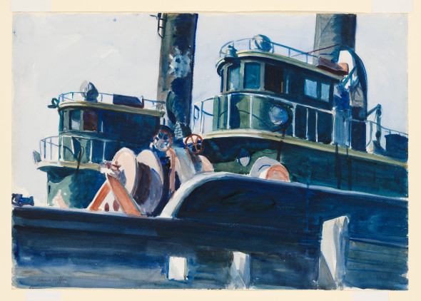 Edward Hopper (1882 1967) Two Trawlers 1923 1924 Watercolor and graphite pencil on paper, 35,2x50.6 cm Whitney Museum of American Art, New York; Josephine N. Hopper Bequest © Heirs of Josephine N. Hopper, Licensed by Whitney Museum of American Art