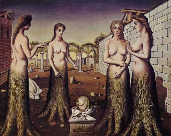Paul Delvaux (Antheit 1897-Furnes 1994) L'aurora, 1937