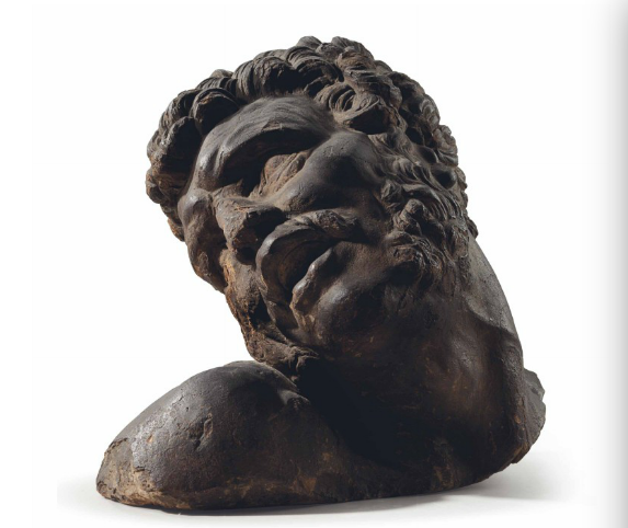 A TERRACOTTA BUST OF MILO OF CROTON BY PIERRE PUGET (1620-1694), LATE 17TH CENTURY 15 in. (38.1 cm.) high; 17. 3/4 in. (45.1 cm.) wide Estimate  $20,000 – $30,000