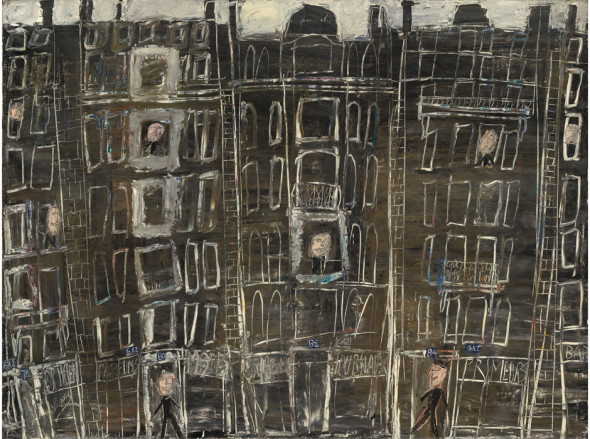 Façades d'immeubles, 1946, Oil on canvas, National Gallery of Art, Washington, Gift of the Stephen Hahn Family Collection, 1995