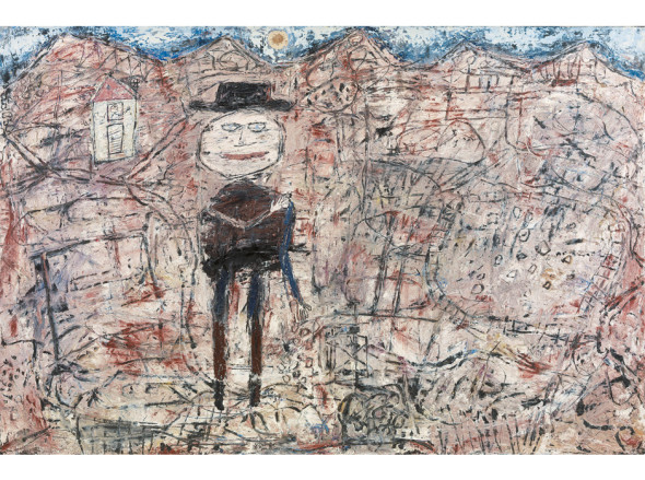 Le Voyageur égaré, 1950, Oil and sand on canvas, Fondation Beyeler, Riehen/Basel, Sammlung Beyeler, Foto: Cantz Medienmanagement, Ostfildern