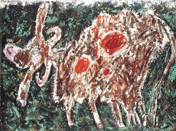 Vache la belle fessue, 1954, Oil on canvas, Collection of Samuel and Ronnie Heyman – Palm Beach, FL