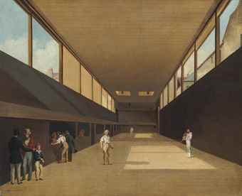 Louis-Léopold Boilly (Lille 1761-1845 Paris) The Private Tennis Court of the Comte d'Artois signed 'L. Boilly' (lower left) oil on canvas 15 1/8 x 18 3/8 in. (38.5 x 46.8 cm.) Estimate  $400,000 – $600,000