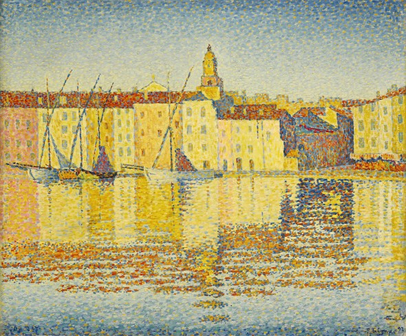 Property from the Collection of Ambassador John Langeloth Loeb, Jr. Paul Signac   Maisons du port, Saint-Tropez Signed P. Signac and dated 92 (lower right); Inscribed Op. 237 (lower left)  oil on canvas 18 ¼ x 21 ¾ in.; 56.5 x 55.3 cm Painted in 1892. Est. $8/12 million