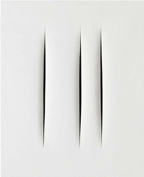 LUCIO FONTANA Concetto Spaziale, Attese, 1968 Water-based paint on canvans