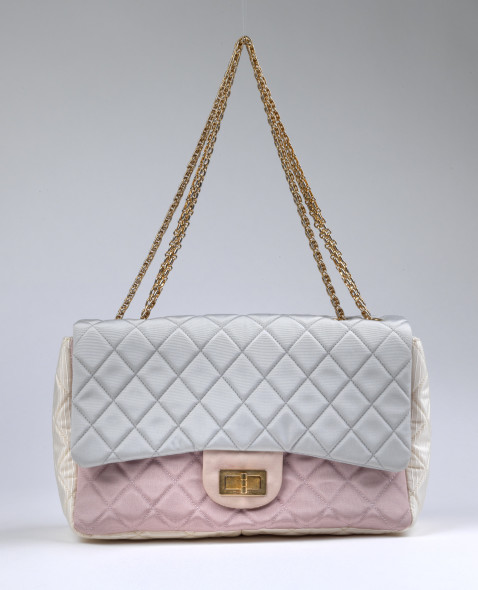 Chanel Graduated Quilted Fabric Classic Jumbo Flap Bag, c. 2008/2009  prezzo di partenza € 700