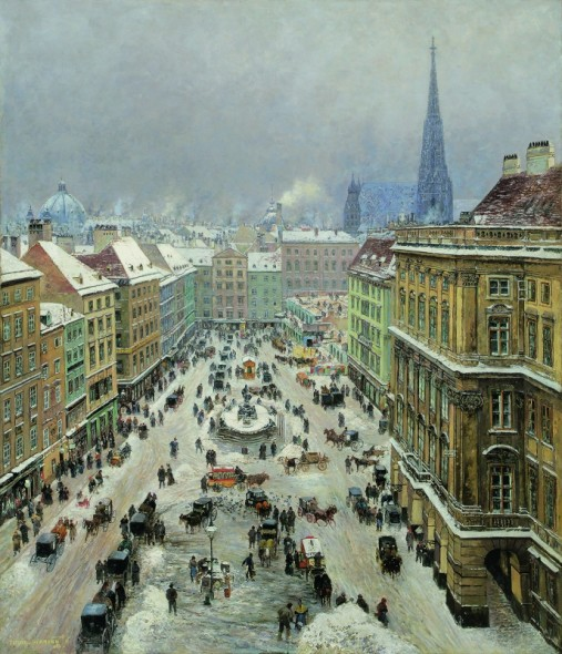 THEODOR VON HÖRMANN, The »Neuer Markt« in Vienna | 1895 © Private collection