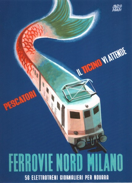 Poster Ferrovie Nord by Carlo Drad