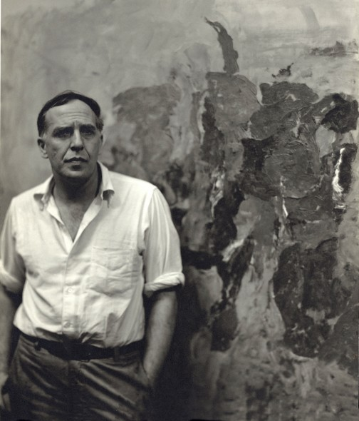 Philip Guston in this studio 1957
