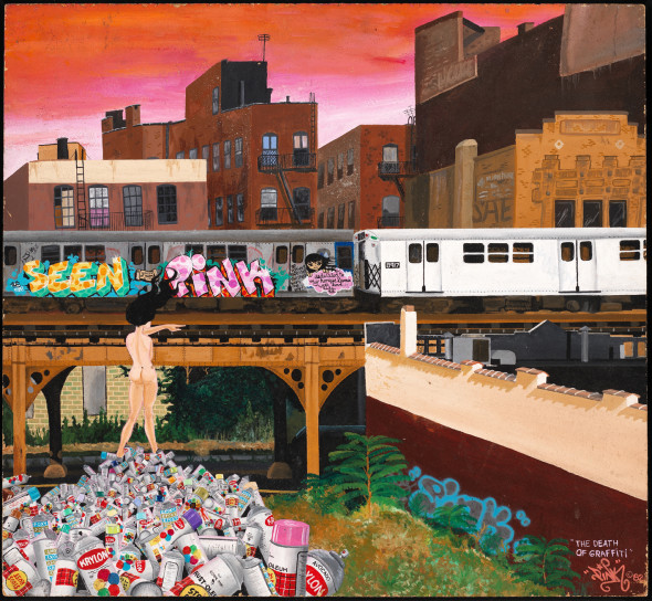 Lady Pink The Death of Graffiti 1982 Acrilico su masonite Museum of the City of New York, Gift of Martin Wong