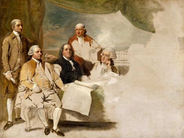 Benjamin West, American Commissioners of the Preliminary Peace Negotiations with Great Britain (begun 1783)