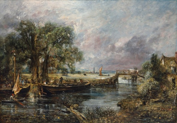 John Constable, RA (East Bergholt 1776-1837 London), Sketch for 'View on the Stour, Near Dedham', Circa 1821-22. Oil on canvas. 51 x 73 in (129.4 x 185.3 cm). Estimate: on request. This work will be offered in the Defining British Art sale at Christie's London on 30 June