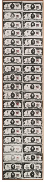 Andy Warhol's Two Dollar Bills (1962; Estimate: £4,000,000- 6,000,000): Post-War and Contemporary Art Evening Auction