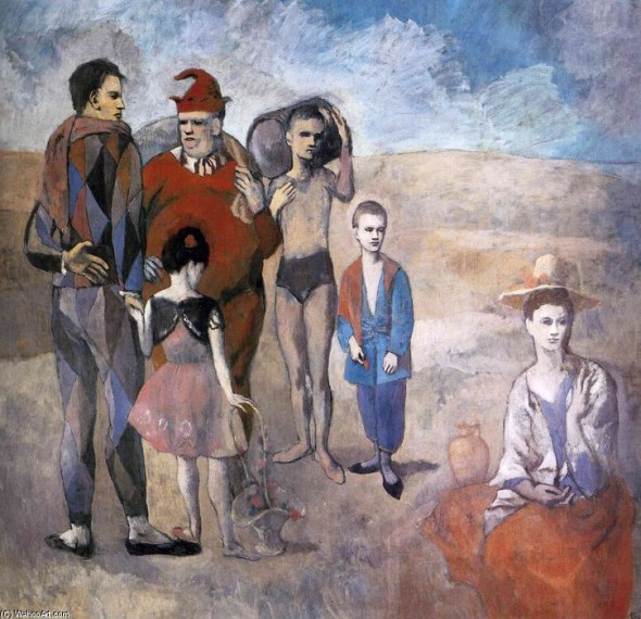 Pablo Picasso, Famiglia di saltimbanchi (I giocolieri), 1905, National Gallery, Washington