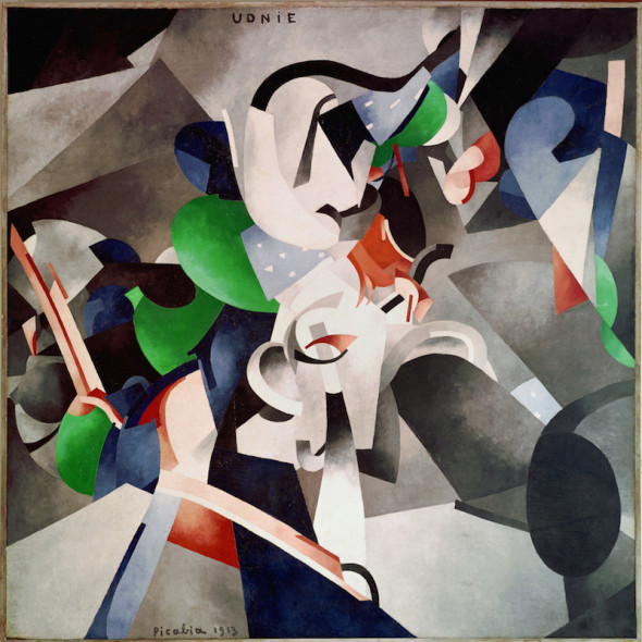 Francis Picabia Udnie (Young American Girl; Dance), 1913 Oil on canvas, 290 x 300 cm Centre Pompidou, Musée national d'art moderne - Centre de création industrielle, Paris. Purchased by the State, 1948 © 2016 ProLitteris, Zurich
