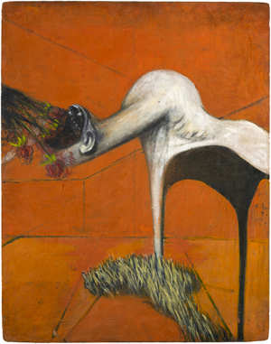 FRANCIS BACON FURY ca. 1944 Oil and pastel on fiberboard  94 x 74 cm  Private collection