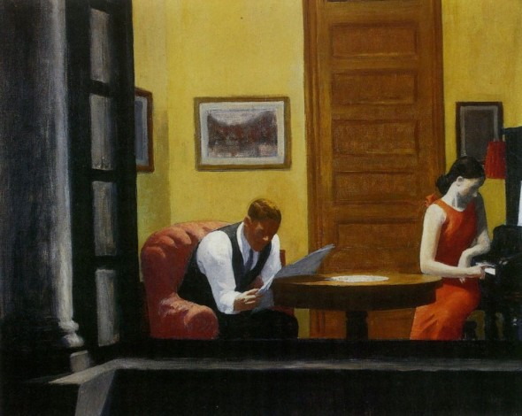 E.Hopper, Room in New York, 1930