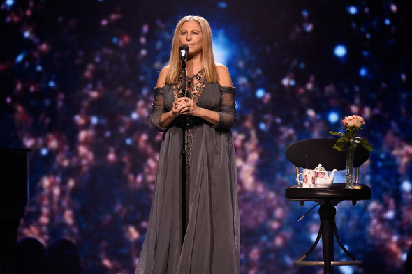 Encore NEW YORK, NY - AUGUST 11:  Barbra Streisand performs onstage during Barbra - The Music... The Mem'ries... The Magic! Tour at Barclays Center of Brooklyn on August 11, 2016 in New York, New York.  (Photo by Kevin Mazur/WireImage for BSB  )