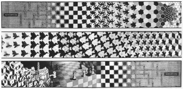 Escher, Metamorphosis II (1939-1940)