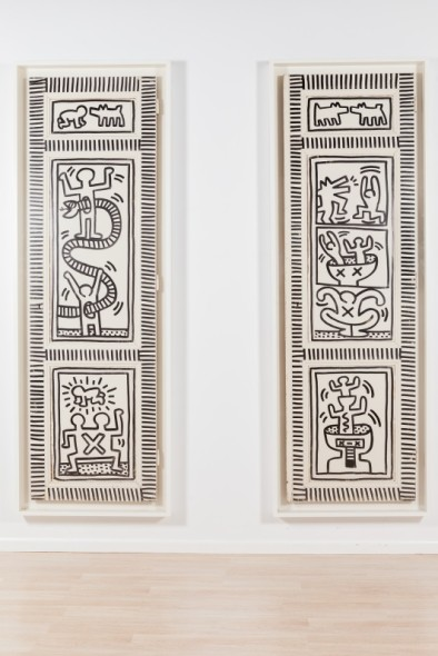 Keith Haring, 1958-1990 Snake and Man; Dogs and Men, 1983 Estimate: $700,000-1,000,000