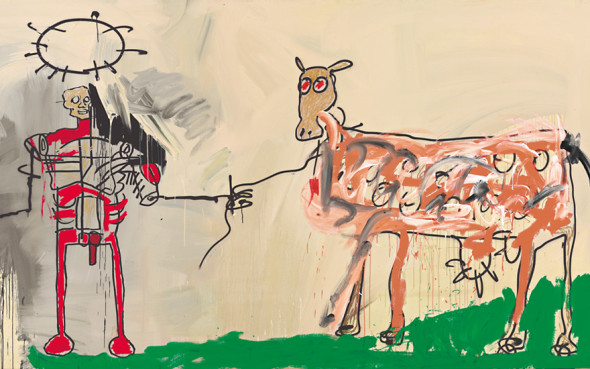 Jean-Michel Basquiat The Field Next to the Other Road (1981)  Pittura, Tecnica mista , 220,9 cm x 401,3 cm  37.125.000 $   Christie's , New York  Stati Uniti, 13/05/2015