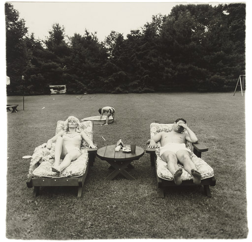 Diane Arbus, A family on their lawn one Sunday in westchester, gelatin silver print, 1969-71. Courtesy Howard Greenber gallery.
