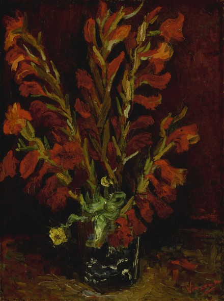 Vincent van Gogh 1853 - 1890 NATURE MORTE: VASE AUX GLAÏEULS Signed Vincent (lower right) Oil on canvas 20 1/8 by 15 3/8 in 51.2 by 38.8 cm Painted in Paris in the summer of 1886. Estimate     5,000,000 — 7,000,000  USD