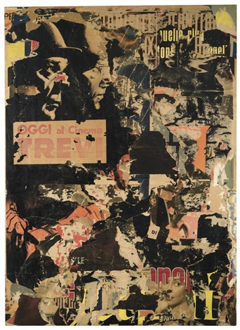 Mimmo Rotella Avventuroso 2 1962 top price