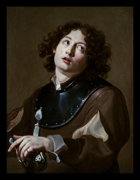 THEODOR ROMBOUTS - A Young Soldier, 1624, 75 x 56.5 cm
