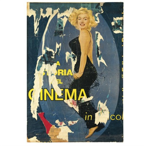 Mimmo Rotella La storia del cinema 1964 top price