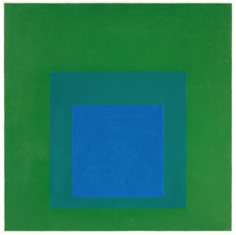 Josef Albers Bottrop 1888 - 1976 New Haven Homage to the Square 1962 Oil on Masonite. 101 x 101 cm. Framed. Monogrammed and dated 'A62' (scratched). - Some crackling. This work will be included in the forthcoming Josef Albers Catalogue Raisonné being prepared by the Anni and Josef Albers Foundation, Orange, Connecticut. The present work is registered in The Josef Albers Foundation, Orange, Connecticut (with label verso) Estimated price €300.000 - €500.000