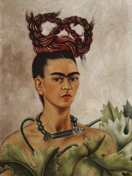 Frida Kahlo Autoritratto con treccia, 1941 Olio su masonite, 51x38,5 cm The Jacques and Natasha Gelman Collection of 20th Century Mexican Art and The Vergel Foundation, Cuernavaca © Banco de México Diego Rivera Frida Kahlo Museums Trust, México D.F. by SIAE 2016