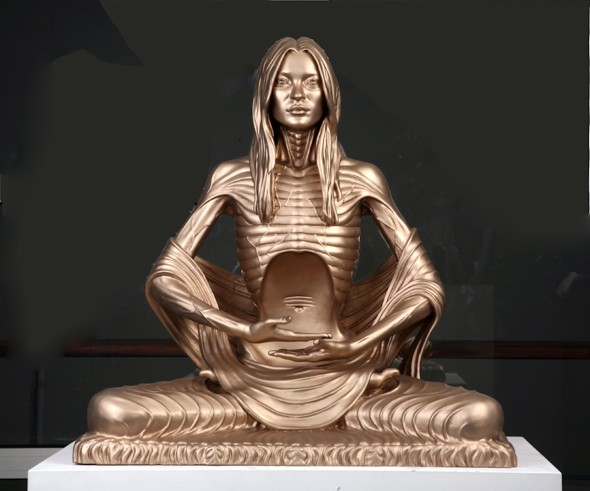ProjectB, Marc Quinn, Sphinx - Road to Enlightenment, 2007, lacquered bronze, 81x86x56 cm, Ed.3-3