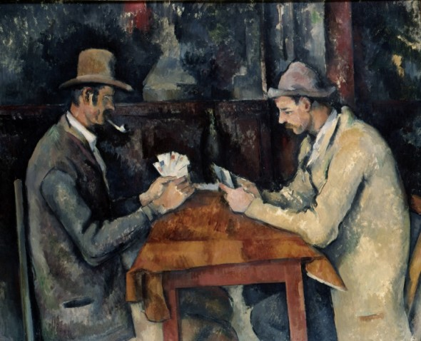 Paul Cézanne, I giocatori di carte, 1890 Top Price opere più costose