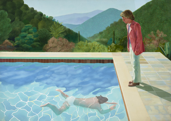 Portrait of an Artist (Pool with Two Figures) 1972 Acrylic paint on canvas 2140 x 3048 mm Lewis Collection © David Hockney Photo Credit: Art Gallery of New South Wales / Jenni Carter