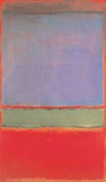 Mark Rothko, No. 6 (Violet, Green and Red), 1951 Top Price Colour Field