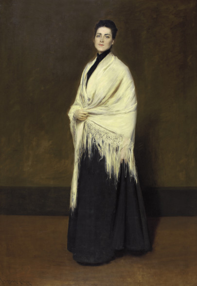 WILLIAM MERRITT CHASE Portrait of Mrs. C. (Lady with a White Shawl) (1893),  © Pennsylvania Academy of the Fine Arts