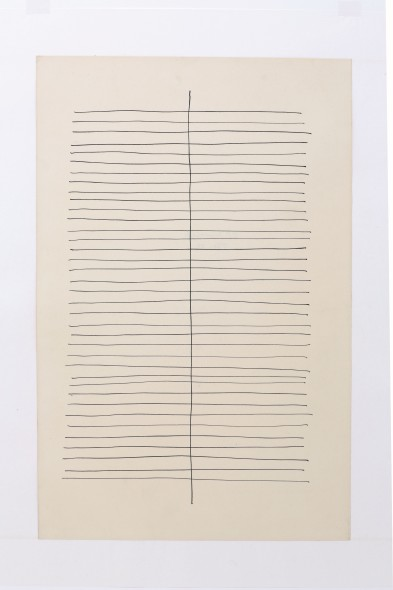 Jan Schoonhoven, t 62 22, 1962, inchiostro su carta  Dep Art