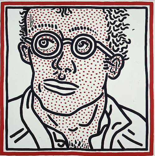 Keith Haring Self Portrait for Tony top price