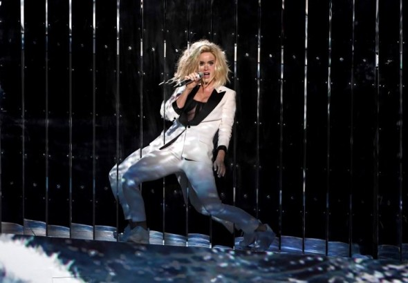 Katy Perry performs at the 59th Annual GRAMMY Awards on Feb. 12 in Los Angeles Photo: Kevin Winter/WireImage.com