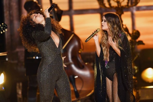 Alicia Keys and Maren Morris perform at the 59th Annual GRAMMY Awards on Feb. 12 in Los Angeles Photo: Kevin Winter/WireImage.com