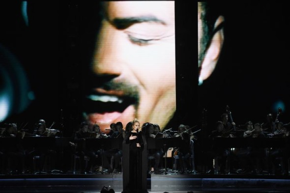 Adele performs a tribute to the late George Michael at the 59th Annual GRAMMY Awards on Feb. 12 in Los Angeles Photo: Kevin Winter/WireImage.com