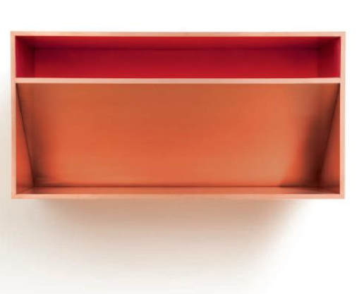 DONALD JUDD, Untitled copper and red Plexiglas Executed in 1981. $1,200,000-1,800,000
