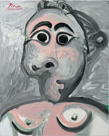 PABLO PICASSO, Buste de femme oil on canvas Painted on 13 January 1970. $4,000,000-6,000,000