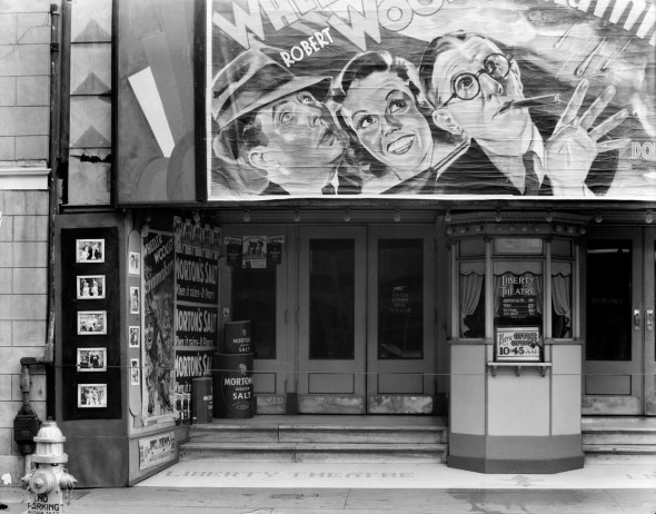 Walker Evans - Movie Theater on   Saint Charles Street, 1935