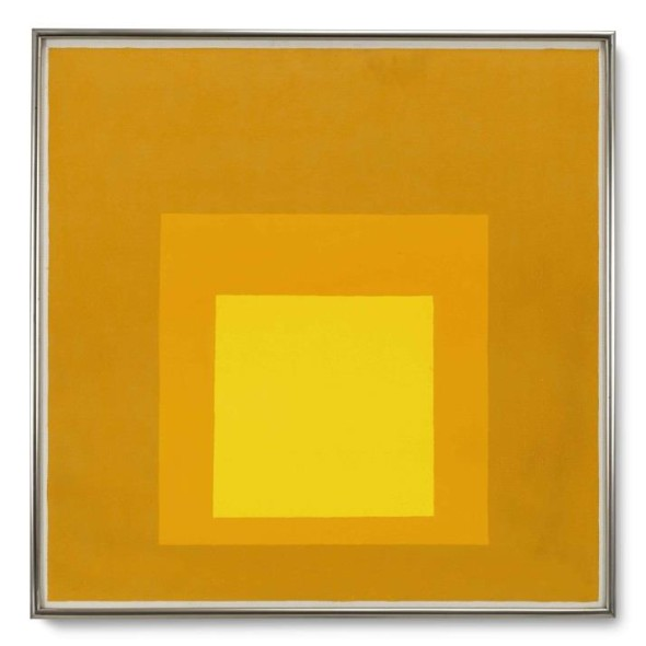 Josef Albers, Study for Homage to the Square, 1969, olio su Masonite, cm 61 x 61