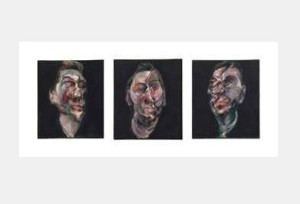 Lot 38 B Francis Bacon (1909-1992) Three Studies for a Portrait of George Dyer triptych—oil on canvas each: 14 x 12 in. (35.5 x 30.5 cm.) estimate Estimate on request  PRICE REALIZED USD 51,767,500 Price Realised is hammer price plus buyer's premium, net of any applicable fees.