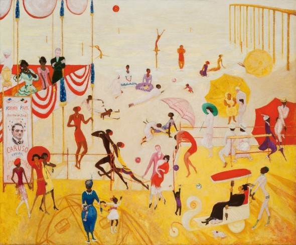 Florine Stettheimer, Asbury Park South, 1920. Oil on canvas. Collection of Halley K. Harrisburg and Michael Rosenfeld, New York.